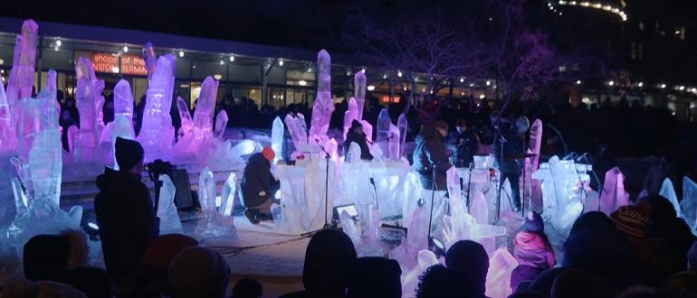 Royal Canoe выпустили релиз, сыгранный на ледяных инструментах